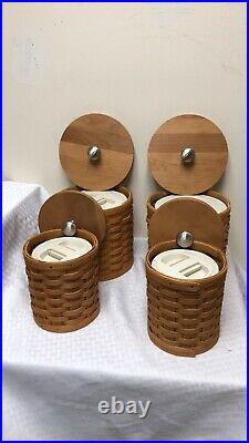 Longaberger Kitchen Canister Set Baskets Lids Scoops