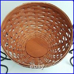 Longaberger Large Autumn Treats Basket Set+Legs LIMITED EDITION HALLOWEEN