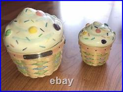 Longaberger Large Cupcake and Little Cupcake Basket Set Collector's Club 2006