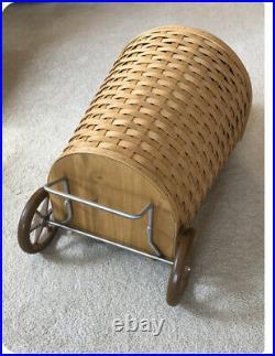 Longaberger Large Hostess Shopping Cart Basket-Liner-Protector Set Combo PICK UP
