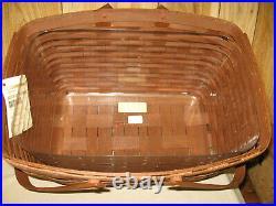 Longaberger Large Market Basket Set In Rich Brown