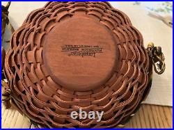 Longaberger Large and Small Autumn Treats Basket Sets & Wrought Iron Spider Legs