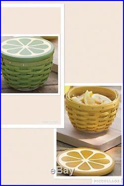 Longaberger Lemon Lime Basket Sets (see descr. For shipping details)