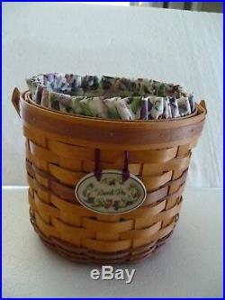 Longaberger MAY series set of 6 basket combos Snapdragon, Daisy, Lilac, Geranium, +