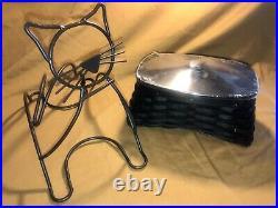 Longaberger MINT 2009 BLACK CAT Basket 6 piece NEW Set Halloween- Wrought Iron