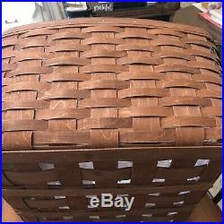 Longaberger Medium Wash Day Basket Set -new- Rich Brown