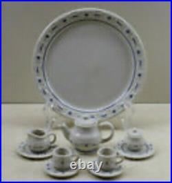 Longaberger Miniature Collection, 6 Mini Baskets & Mini Tea Set with Iron Hanger