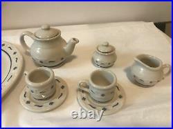 Longaberger Miniature Collectors Club Tea Set Blue Heritage