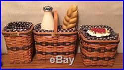 Longaberger Miniature Set Baskets Bowls Wrought Iron Pies Cake Bread Milk MORE