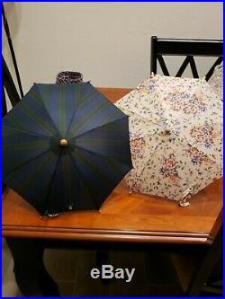 Longaberger Miniature Umbrella Basket Set W Mini Umbrellas