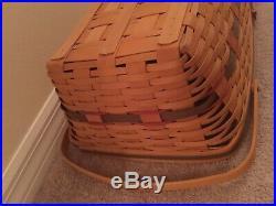 Longaberger NEW Yuletide Treasures Basket & Protector Set Liner Is sold