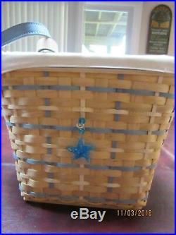 Longaberger New 2006 Hostess Coastal Tote Basket Set