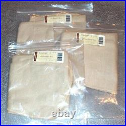 Longaberger Oatmeal BASKET BIN SET 3-Liners Made in USA Small, Medium, Large