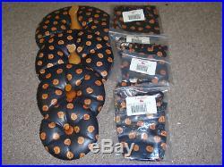 Longaberger PUMPKIN BASKET SET OF 4, LIDS/PROTECTORS/LINERS. Fabric Choice NEW