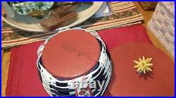 Longaberger Patriotic Firecracker Round- Up Basket Set! RARE