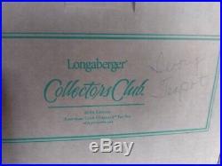 Longaberger Pottery Collector's Club American Craft Originals Tea Set NEW in box