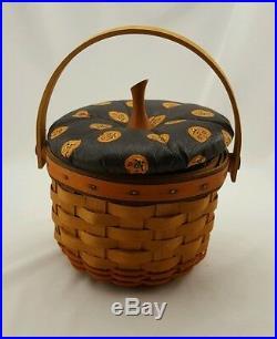 Longaberger Pumpkin Basket Set Lids Halloween Fall Large Medium Small Little