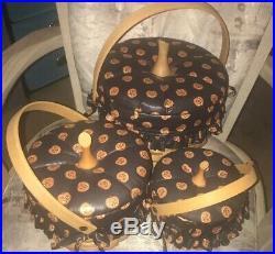 Longaberger Pumpkin Baskets set of 3 Baskets