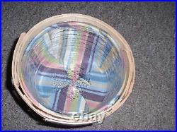 Longaberger RARE 2006 Homestead Gathering Large Cupcake Basket Set, New