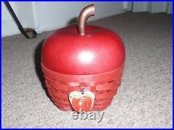 Longaberger RARE 2007 Collectors Club Red Apple Basket Set. New