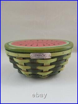 Longaberger RARE 2010 Collectors Club Event Watermelon Basket Set
