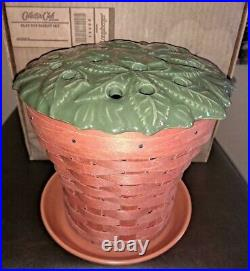 Longaberger RARE Collector Club Clay Pot Basket complete set MINT FREE SHIPPING