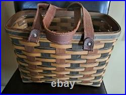 Longaberger RARE Signature Weave Village Villager Basket set MINT FREE SHIPPING