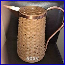 Longaberger RARE Woven Pitcher Basket with copper set FREE SHIPPING