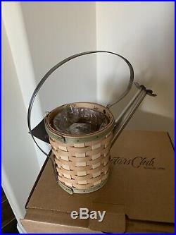 Longaberger Rare Collectors Club Watering Can Basket Set NIB