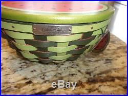 Longaberger Rare Collectors Club Watermelon Basket Boyds Bear Set