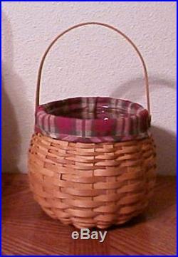 Longaberger Rare Retired 2001 Pumpkin Patch Basket Set New Last One Avail