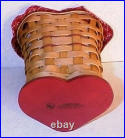 Longaberger Rare Retired 2008 Sweetheart True Love Basket Set- New-last One