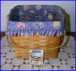 Longaberger Rare Retired Grandma Bonnie's Two Pie Basket Set-special Edition