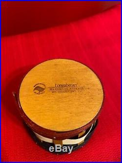 Longaberger Rare and HTF Firecracker Basket, Lid and Protector Set