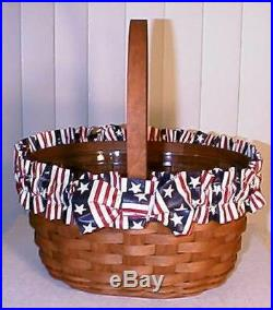Longaberger Rich Brown Oval Spring Basket Set New Last One Available