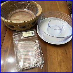 Longaberger Round Serving Basket Set New