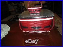 Longaberger Santa Belly Cake Basket withMiniature Cake Basket Sets