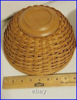 Longaberger Set Of 2 Serving Bowls with Lids, Baskets and Fabric Liners