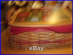 Longaberger Set Of 3 Holiday Treasures Traditions Treats Basket Combos -awesome