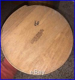 Longaberger Set Of 4 Wood Canister Baskets With Lids, Plastic Protectors+lids