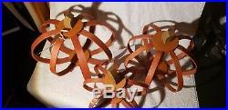 Longaberger Set of 3 Bentwood Pumpkins ALL IN Spice/Orange NIH
