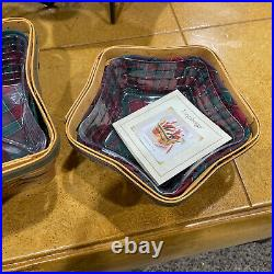 Longaberger, Set of 3 Plus Wrought Iron Stands 2001 Christmas Star Baskets