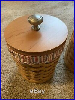 Longaberger Set of 4 Basket Canisters With Lids