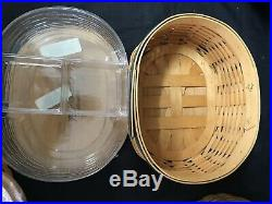 Longaberger Set of 5 Collectors Club Harmony Baskets w Protector & Wrapped Lids