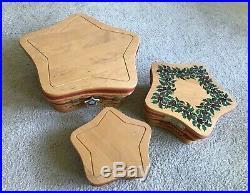 Longaberger Set of Three Sizes-2001 Christmas Star Baskets-FREE SHIPPING