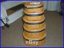 Longaberger Shaker Harmony Basket Series, Set of 5 Baskets. New