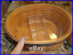 Longaberger Shaker Harmony Basket Set Of 5 Wood Lids Protectors