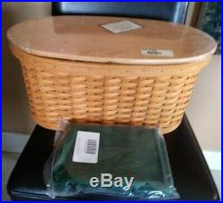 Longaberger Small Work Load Basket complete set with lid MINT FREE SHIPPING