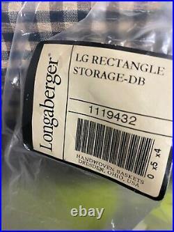 Longaberger Sort & Store Large Basket set Deep Brown NEW rectangle storage