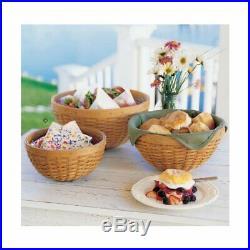 Longaberger Spring Floral BOWL BASKET SET 4-Basket Liners Brand New in Bags